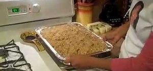 Make Creole style cornbread dressing