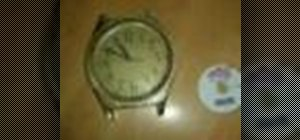 Make a clock with a recylced watch and old CDs