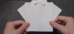 Craft an origami collared Father's Day shirt with tie