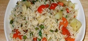 Cook Indian pulav (vegetable rice)