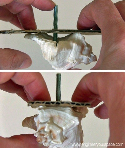 How to Make DIY Decorative Shell Dresser Knobs