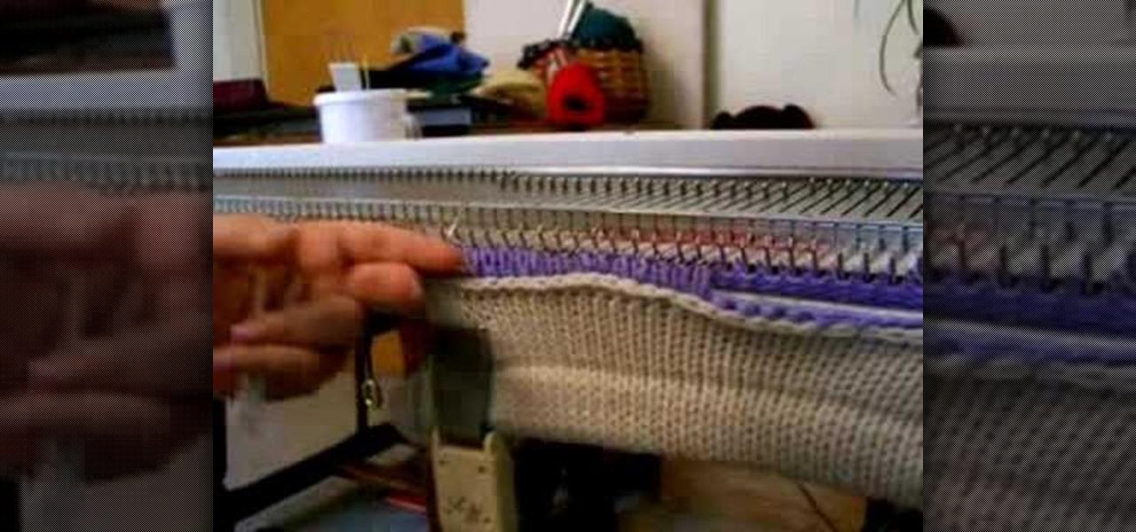 pick up stitches using knitting