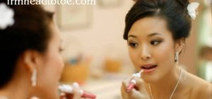 Create a sweet pink bridal makeup look for Asians