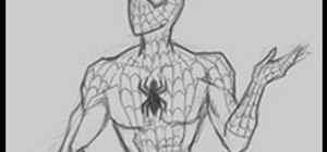 Draw a basic SpiderMan