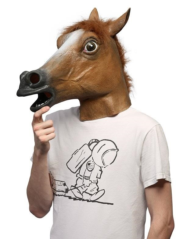 This DIY Serial Killer Horse Costume Is All You Need to Party on Halloween