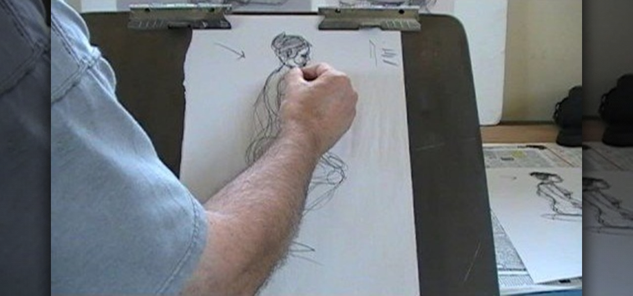 Drawing a naked lady-4676