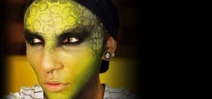 Create a reptilian lizard makeup look for Halloween