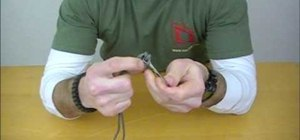 Tie a Palomar knot to secure a fishing line