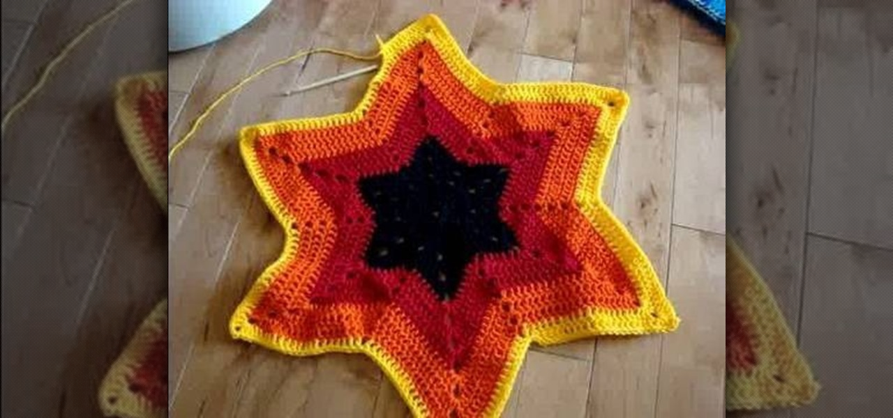 How To Crochet Six Point Star Afghans Doilies Tablecloths