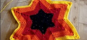 Crochet six-point star afghans, doilies & tablecloths