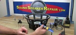Solder speaker lead wires