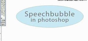 Create a speech bubble in Photoshop
