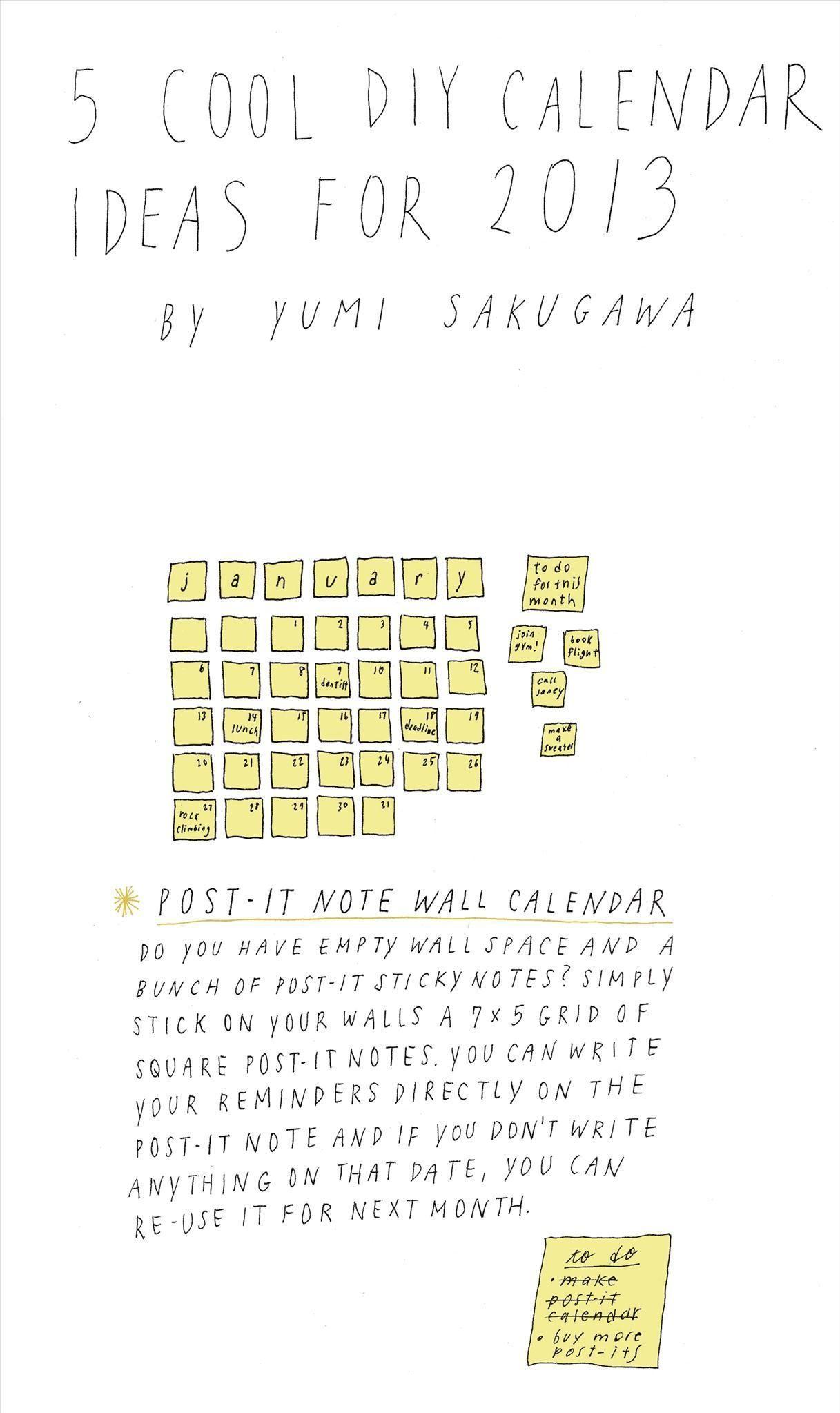 Diy Google Calendar : Cool diy calendar ideas for « the secret yumiverse
