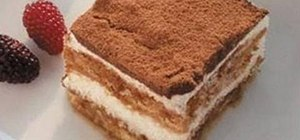 Make Italian tiramisu with lady fingers and mascarpone cheese