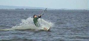 Do the backloop trick in kiteboarding