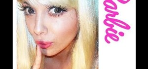 Create a perky and pretty Barbie doll makeup look for Halloween
