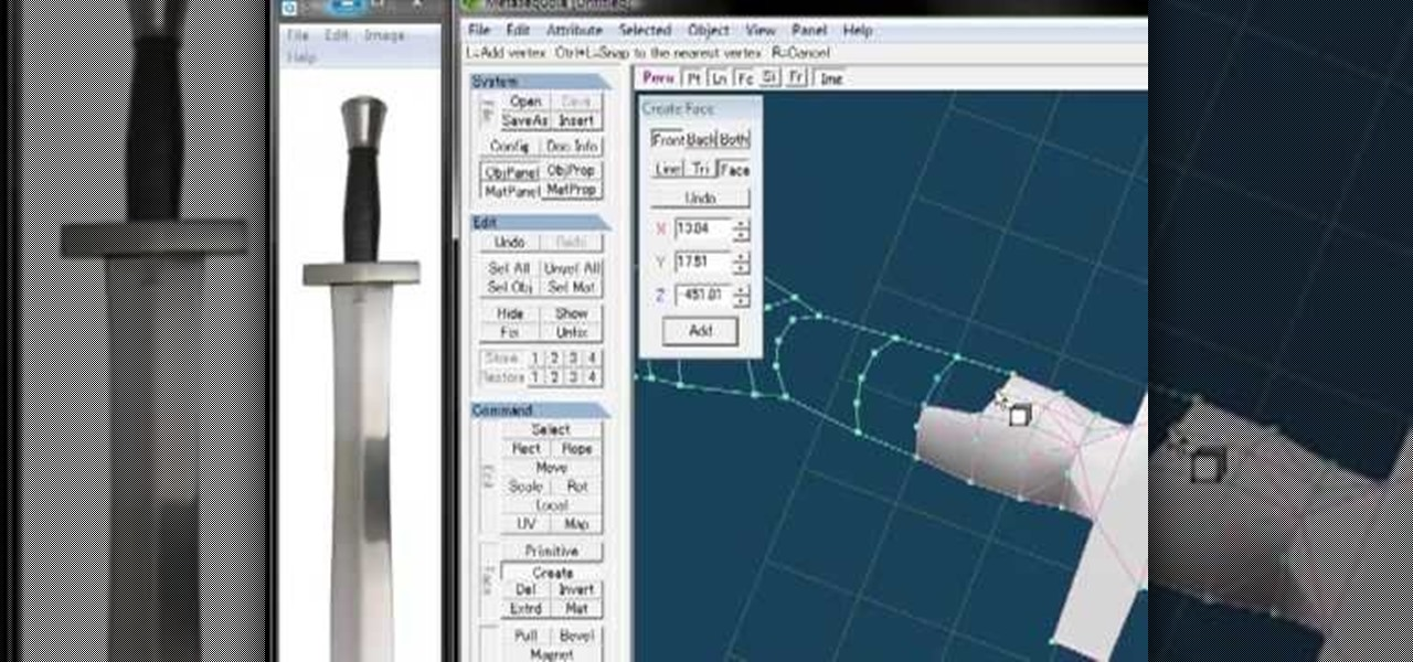 How to Model a basic sword in 3D using Metasequoia « Software Tips