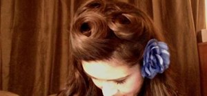 Create a gorgeous retro pinup hairstyle