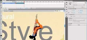 Animate character poses in a movie clip in Adobe Flash