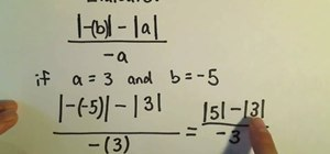 Simplify expressions involving absolute value