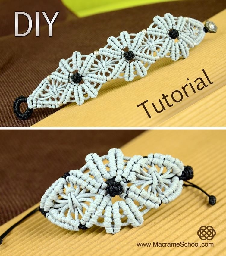 Macrame Flower Bracelet Tutorial