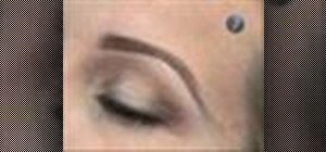 Create eyebrows with makeup