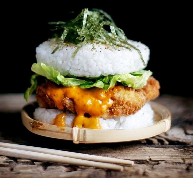 These Mouthwatering Sushi Burgers Are a Gift from the Lunch Gods