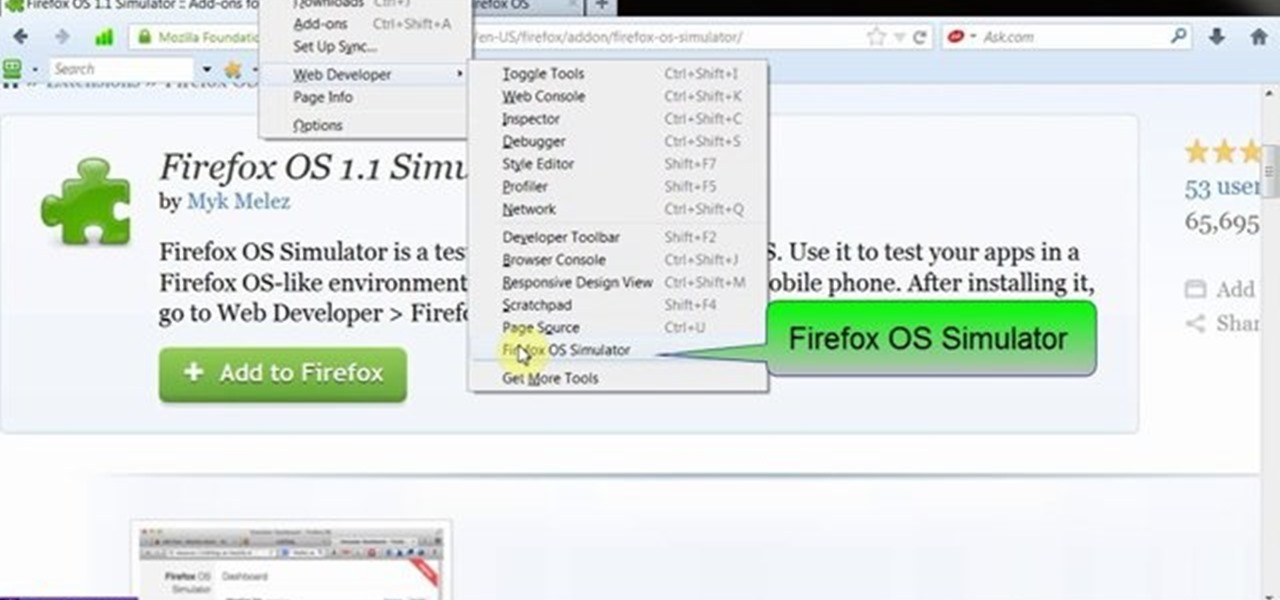 Simulate Firefox OS for Smartphones in Your PC