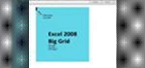 Explore bigger grids in Microsoft Excel: Mac 2008