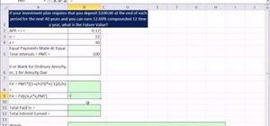 Calculate the future value of annuity with the FV function in Excel