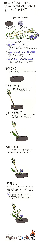 How to Do a Very Basic Ikebana Flower Arrangement