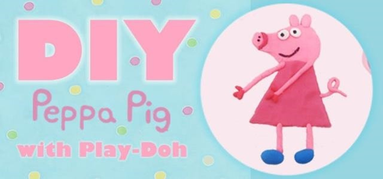 Make Peppa Pig from Play-Doh