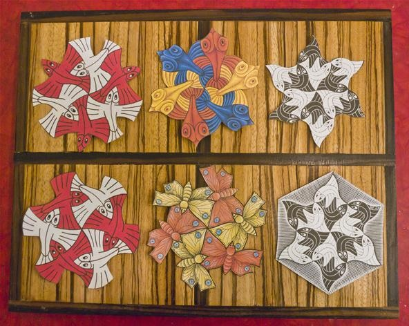 "Mathematical Holiday Ornaments: Escher ""Snow Flakes"""