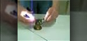 Test the conductivity of metal