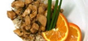 Make a healthy orange chicken dish at home