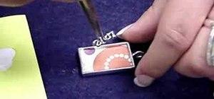 Make a DG3 art gel collage jewelry pendant