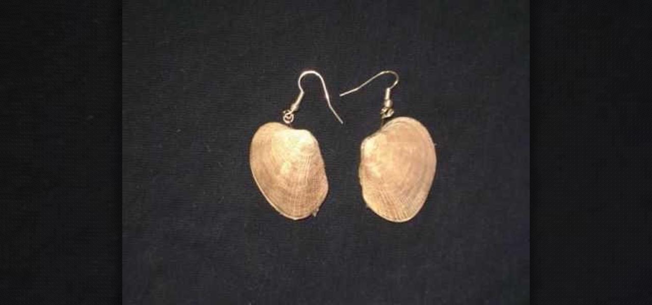 How To Make Simple Seashell Earrings 171 Jewelry