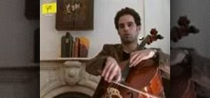 Haveperfect thumb position on cello