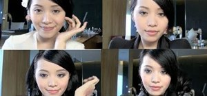 Create four different Chinese girl makeup looks