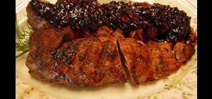 Make pork loins with bourbon BBQ sauce with Betty