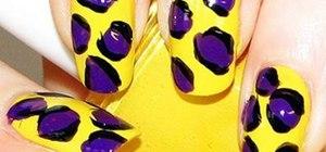 Create colorful leopard print nails