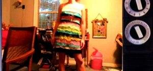 Make a dress from multiple Bath Poufs