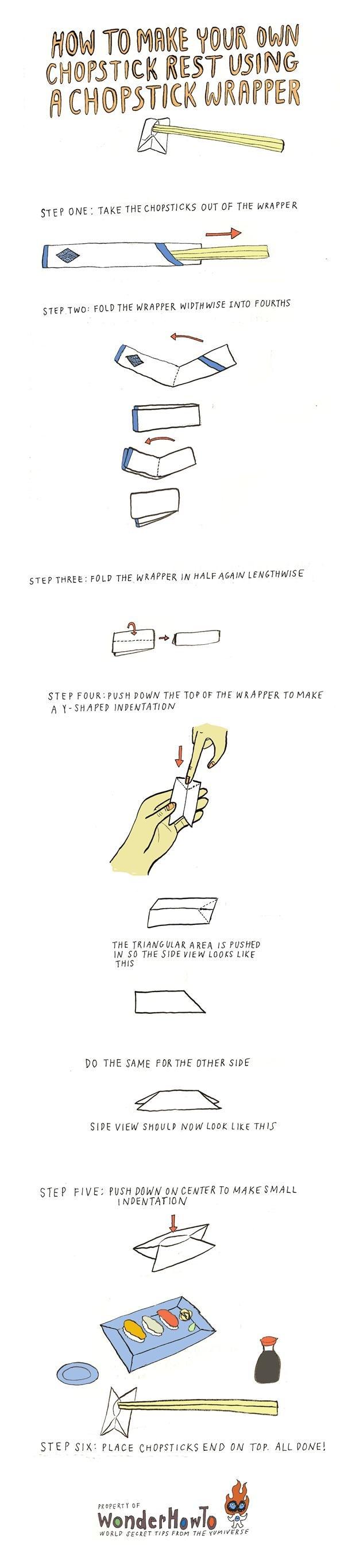 Origami Using Chopstick Wrapper