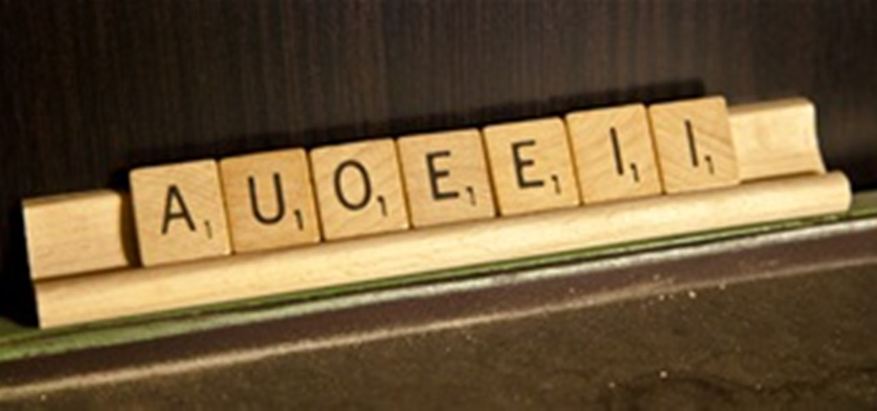 Scrabble Challenge 20 What Would You Do With A Rack Full Of Vowels