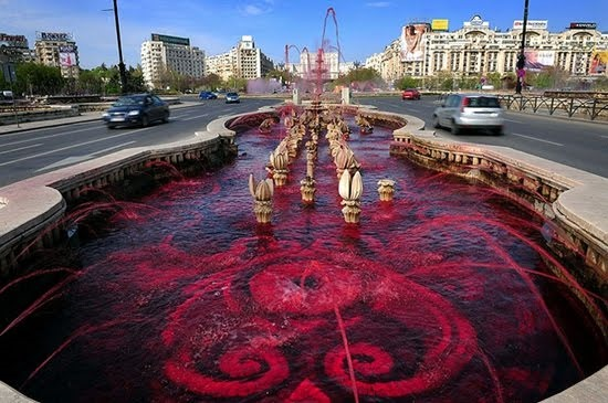 Apocalyptic Fountains Spew Blood