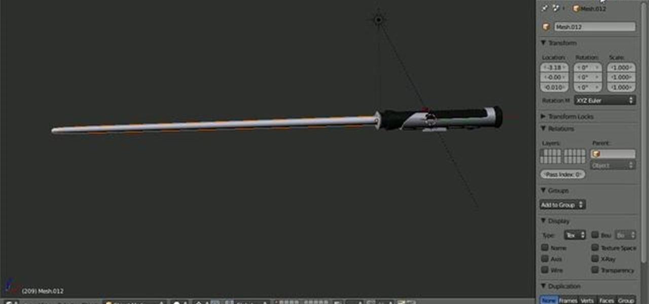 How to Render a Star Wars light saber in Blender 2.5 « Software Tips