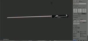 Render a Star Wars light saber in Blender 2.5
