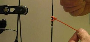 Tie a D-loop for archery bowstrings