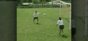 Side volley in soccer
