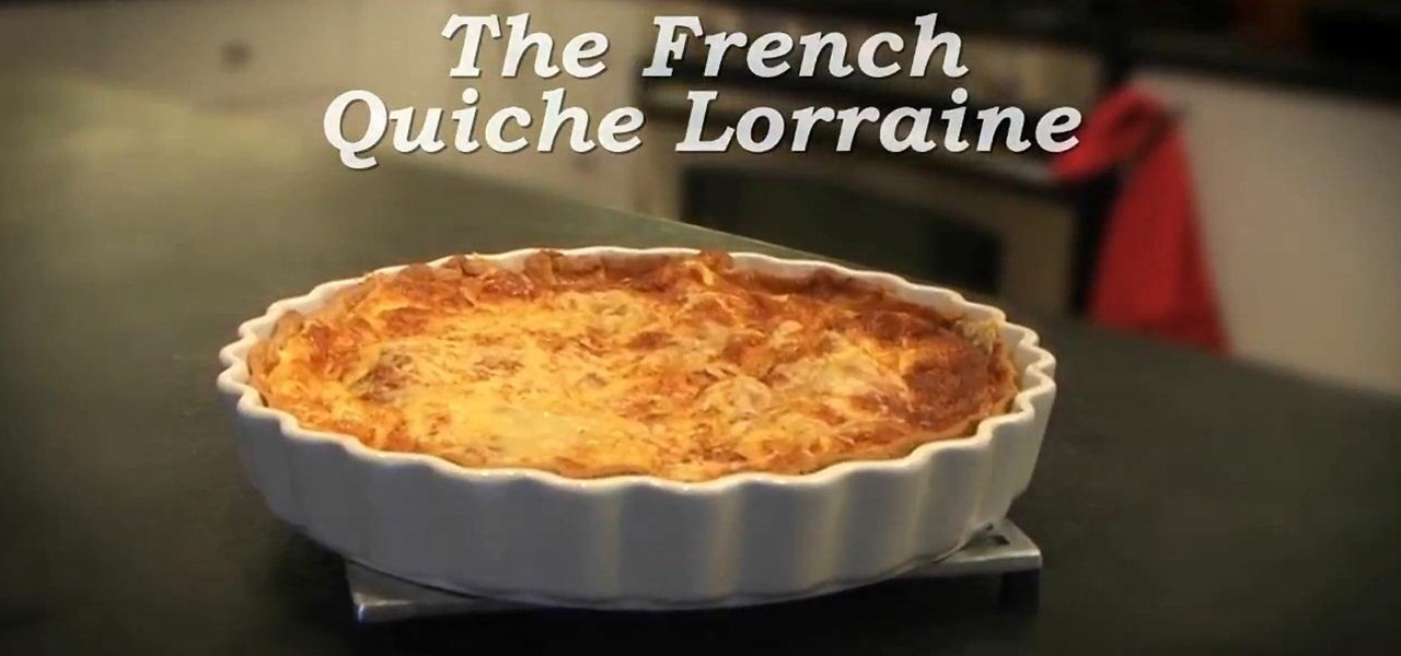 "Make A ""French Quiche Lorraine"""